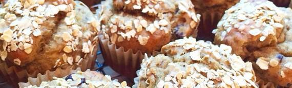 Banana Oat muffins (vegan)